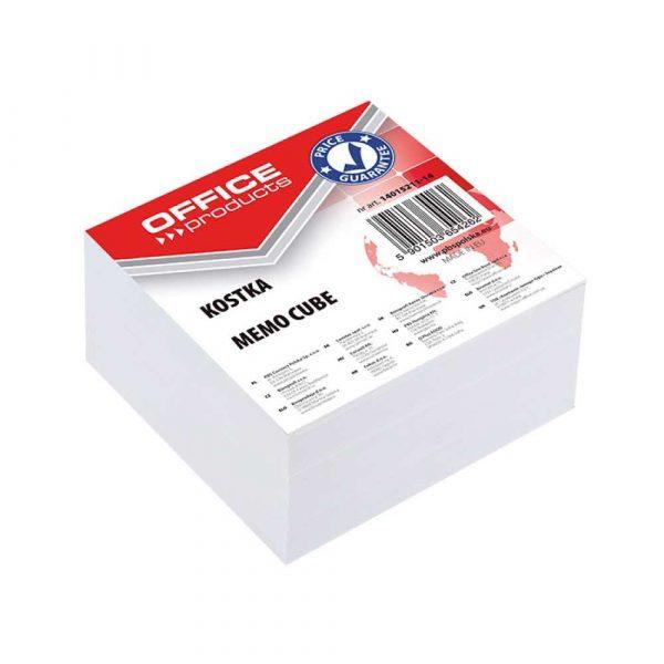 kostki papierowe 4 alibiuro.pl Kostka OFFICE PRODUCTS nieklejona 85x85x40mm biała 28