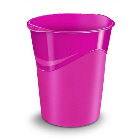 kosz na śmieci ażurowy 4 alibiuro.pl Kosz na śmieci CEPPro Gloss polistyren różowy 38