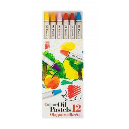 kredki ołówkowe 4 alibiuro.pl Pastele olejowe ICO Suni 12szt. mix kolorów 24