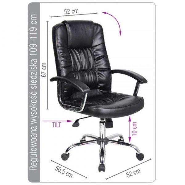krzesło biurowe 4 alibiuro.pl Fotel biurowy OFFICE PRODUCTS Cyprus czarny 96