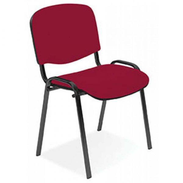krzesło biurowe 4 alibiuro.pl Krzesło konferencyjne OFFICE PRODUCTS Kos Premium bordowe 18
