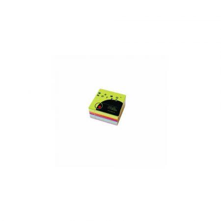 kubik 1 alibiuro.pl Karteczki samoprzylepne kostka 75 x 75 mm 400 kart. Memo Notes Dalpo mix kolorów pastelowych 33