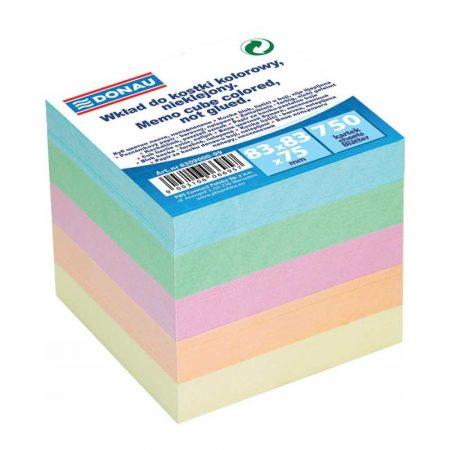 kubik 4 alibiuro.pl Kostka DONAU nieklejona 83x83x75mm mix kolorów 95