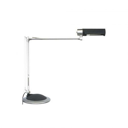 lampka LED 4 alibiuro.pl Lampka energooszczędna na biurko MAULoffice 20W mocowana zaciskiem srebrno czarna 35