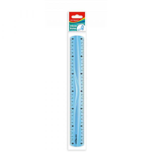 linijka 4 alibiuro.pl Linijka KEYROAD 30cm elastyczna zawieszka mix kolorów 89