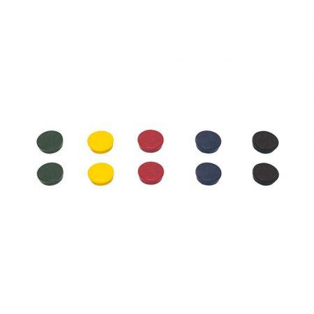 magnesy kolorowe 4 alibiuro.pl Magnesy BI OFFICE okrągłe średnica 30mm 10szt. mix kolorów 29