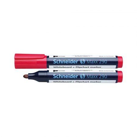 marker do tablic 4 alibiuro.pl Marker do tablic SCHNEIDER Maxx 290 okrągły 2 3mm czerwony 20