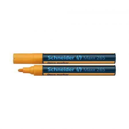 marker kredowy 4 alibiuro.pl Marker kredowy SCHNEIDER Maxx 265 Deco okrągły 2 3mm pomarańczowy 72