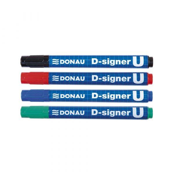 marker niezmywalny 4 alibiuro.pl Marker permanentny DONAU D Signer U okrągły 2 4mm linia zielony 34