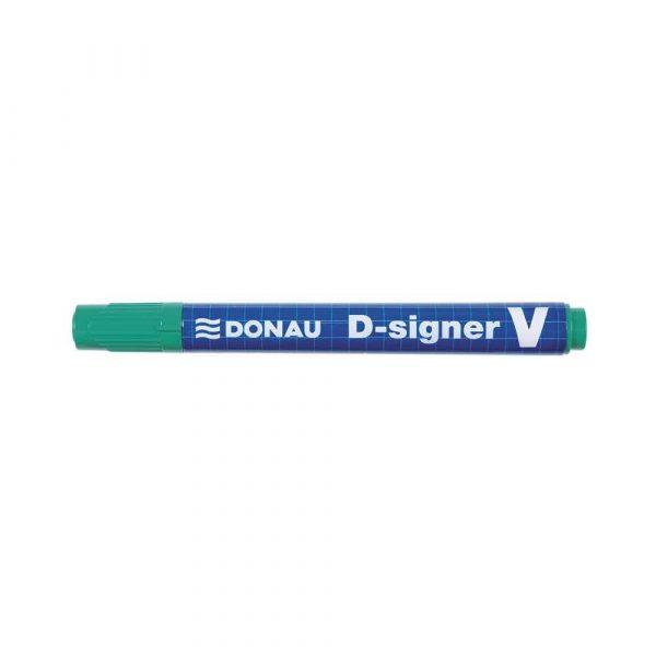 marker niezmywalny 4 alibiuro.pl Marker permanentny DONAU D Signer V ścięty 1 4mm linia zielony 2