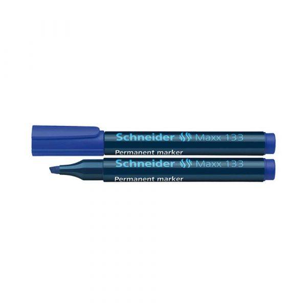 marker niezmywalny 4 alibiuro.pl Marker permanentny SCHNEIDER Maxx 133 ścięty 1 4mm niebieski 69