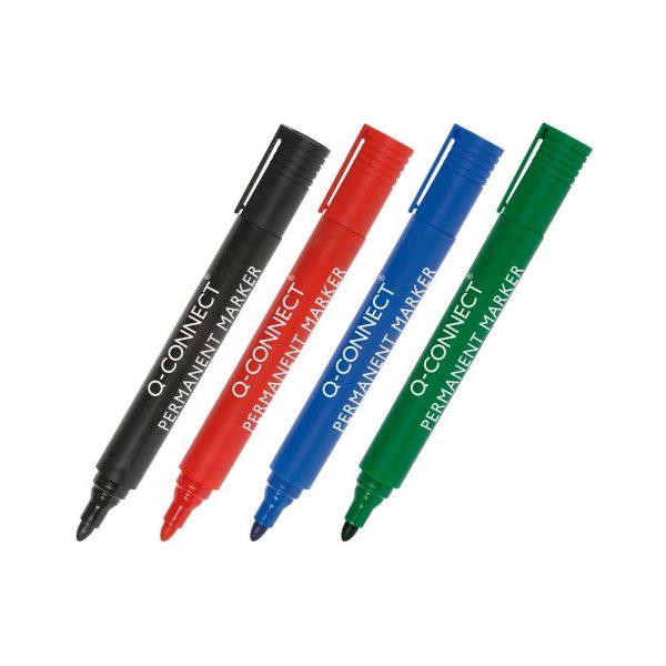 marker permanentny 4 alibiuro.pl Marker permanentny Q CONNECT okrągły 1 5 3mm linia niebieski 73