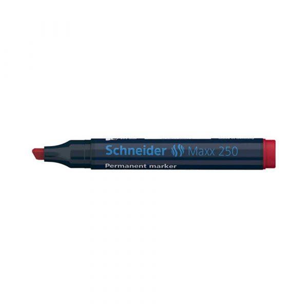marker permanentny 4 alibiuro.pl Marker permanentny SCHNEIDER Maxx 250 ścięty 2 7mm czerwony 14