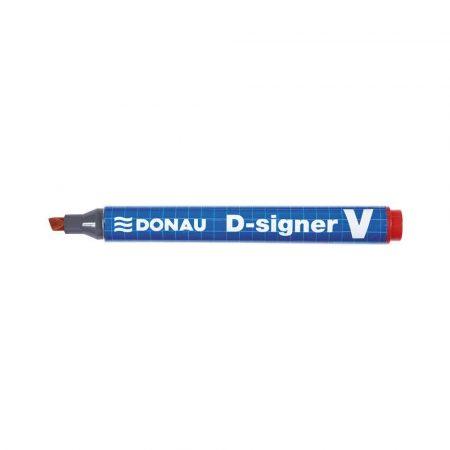 markery permanentne 4 alibiuro.pl Marker permanentny DONAU D Signer V ścięty 1 4mm linia czerwony 48