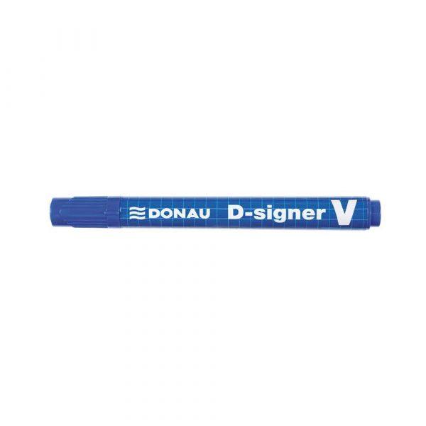 markery permanentne 4 alibiuro.pl Marker permanentny DONAU D Signer V ścięty 1 4mm linia niebieski 87