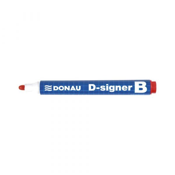 markery suchościeralne 4 alibiuro.pl Marker do tablic DONAU D Signer B okrągły 2 4mm linia czerwony 7