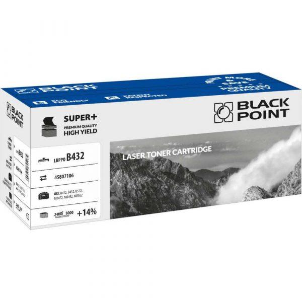 materiały eksploatacyjne 3 alibiuro.pl LBPPOB432 Toner BP S Oki 45807106 BlackPoint LBPPOB432 BLOB432BKBW 37