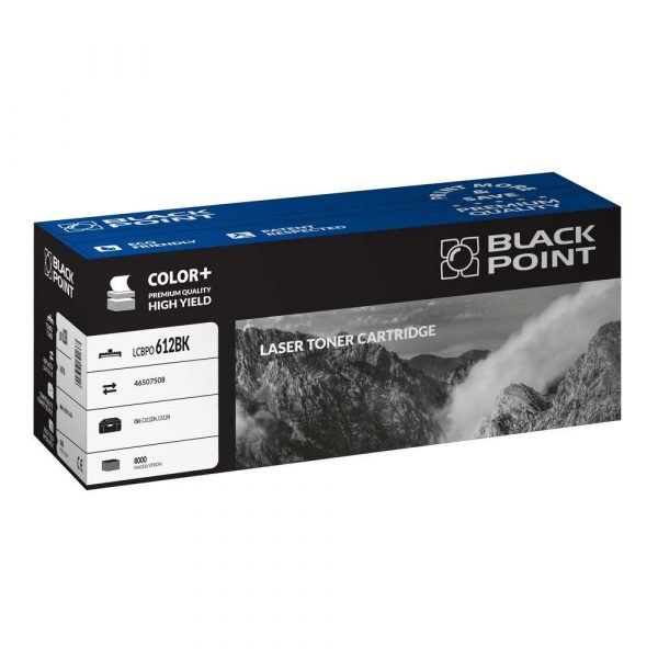 materiały eksploatacyjne 3 alibiuro.pl LCBPOC612BK Toner BP Oki 46507508 BlackPoint LCBPOC612BK BLOKI612BKBW 96