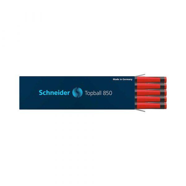 naboje 4 alibiuro.pl Wkład do pióra kulkowego SCHNEIDER Topball 850 0 5 mm czerwony 40