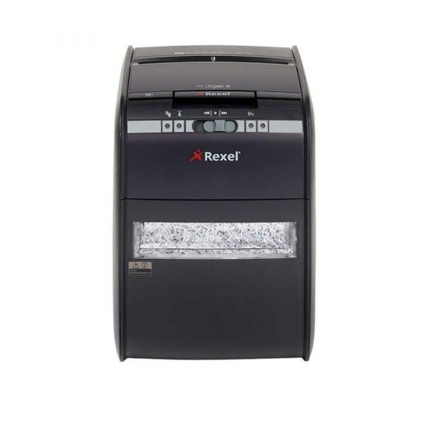 niszczarka 4 alibiuro.pl Niszczarka automatyczna REXEL Auto 90X EU konfetti P 3 90 kart. 20l karty kredytowe czarna 20