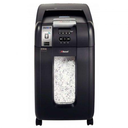 niszczarka na ścinki 4 alibiuro.pl Niszczarka automatyczna REXEL SmartTech Auto 300X konfetti P 4 300 kart. 40l karty kredytowe CD czarna 51