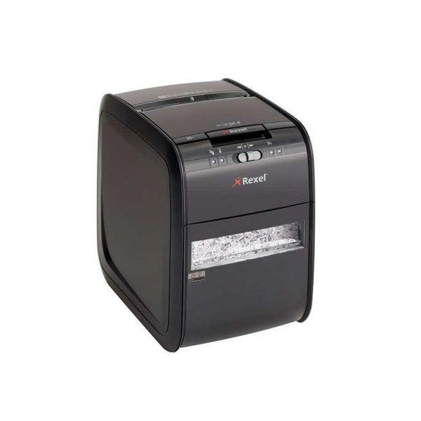niszczarki dokumentów 4 alibiuro.pl Niszczarka automatyczna REXEL Auto 90X EU konfetti P 3 90 kart. 20l karty kredytowe czarna 1