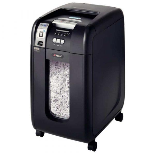 niszczarki dokumentów 4 alibiuro.pl Niszczarka automatyczna REXEL SmartTech Auto 300X konfetti P 4 300 kart. 40l karty kredytowe CD czarna 5