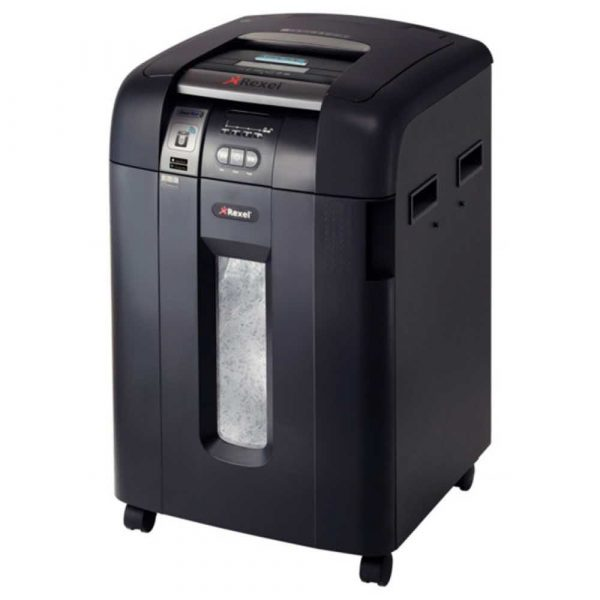 niszczarki przybiurkowe 4 alibiuro.pl Niszczarka automatyczna REXEL SmartTech Auto 600X konfetti P 4 600 kart. 80l karty kredytowe CD czarna 18