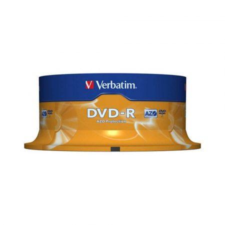 nośniki danych 4 alibiuro.pl Płyta DVD R VERBATIM AZO 4 7GB prędkość 16x cake 25szt. srebrny mat 2