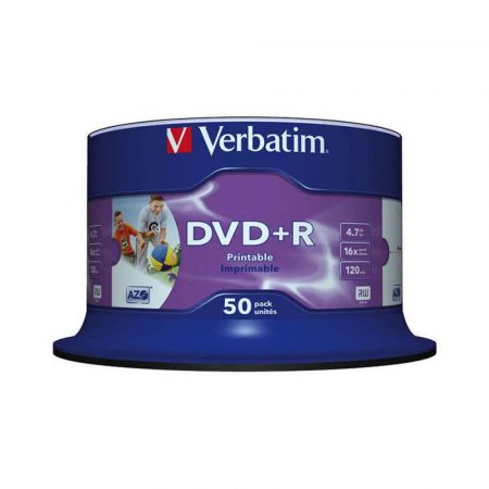 nośniki danych 4 alibiuro.pl Płyta DVD R VERBATIM AZO 4 7GB prędkość 16x cake 50szt. do nadruku 27
