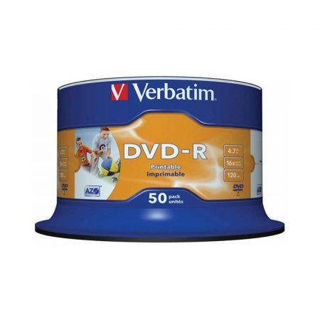 nośniki danych 4 alibiuro.pl Płyta DVD R VERBATIM AZO 4 7GB prędkość 16x cake 50szt. do nadruku 68