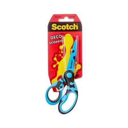nożyczki szkolne 4 alibiuro.pl Nożyczki dla dzieci Scotch DECO 13cm ergonomiczne blister mix kolorów 3