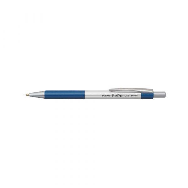 ołówki drewniane 4 alibiuro.pl Ołówek automatyczny PENAC Pepe 0 5mm srebrno niebieski 61