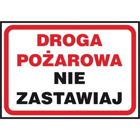 ochrona PPOŻ i bezpieczeństwo ruchu 2 alibiuro.pl ZNAK BEZPIECZEŃSTWA Z 40P PT 250x350 19