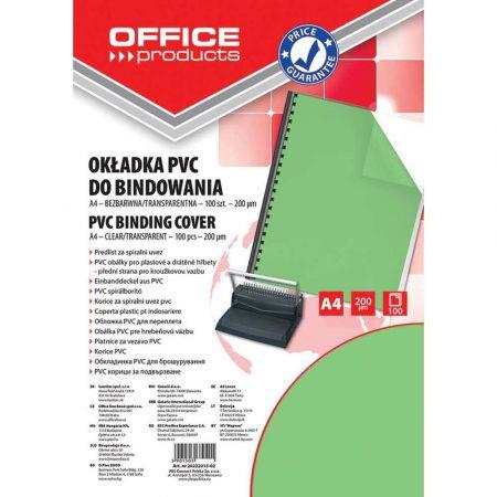 okładki do bindowania 4 alibiuro.pl Okładki do bindowania OFFICE PRODUCTS PVC A4 200mikr. 100szt. zielone transparentne 17