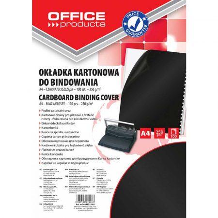 okładki do bindowania 4 alibiuro.pl Okładki do bindowania OFFICE PRODUCTS karton A4 250gsm błyszczące 100szt. czarne 87
