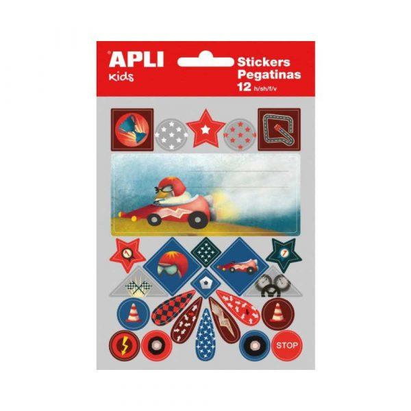 okładki na zeszyty 4 alibiuro.pl Etykiety na zeszyt APLI w bloczku z naklejkami dla chłopców 12ark. mix kolorów 66