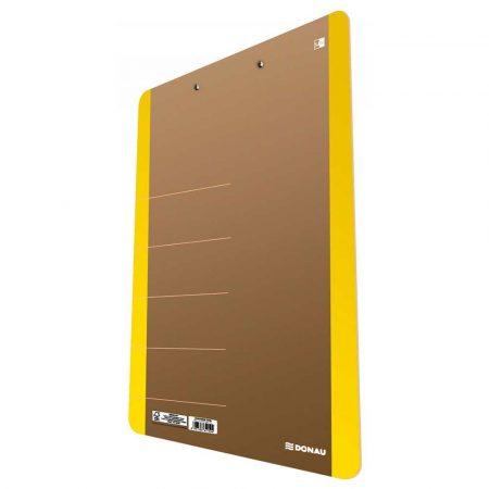 organizacja dokumentów 4 alibiuro.pl Clipboard DONAU Life karton A4 z klipsem żółty 96