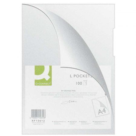organizacja dokumentów 4 alibiuro.pl Obwoluta Q CONNECT typu L PP A4 groszkowa 80mikr. 100szt. transparentna 62