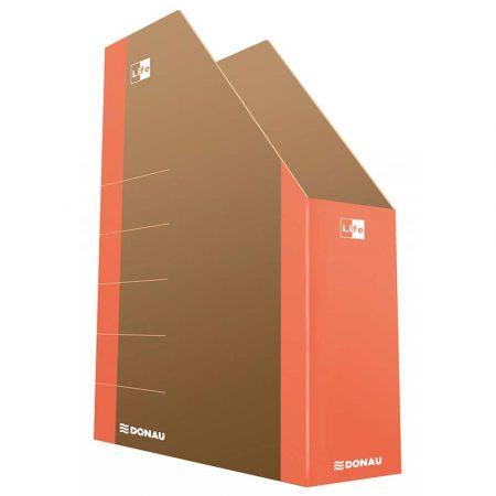 organizacja dokumentów 4 alibiuro.pl Pojemnik na dokumenty DONAU Life karton A4 pomarańczowy 65