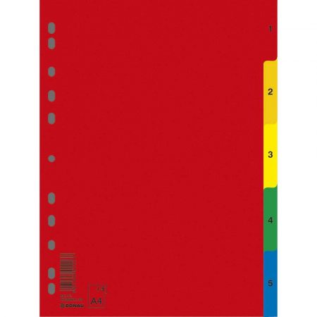 organizacja dokumentów 4 alibiuro.pl Przekładki DONAU PP A4 230x297mm 1 5 5 kart mix kolorów 89