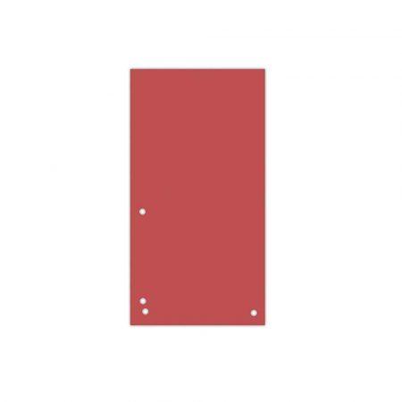organizacja dokumentów 4 alibiuro.pl Przekładki DONAU karton 1 3 A4 235x105mm 100szt. czerwone 30