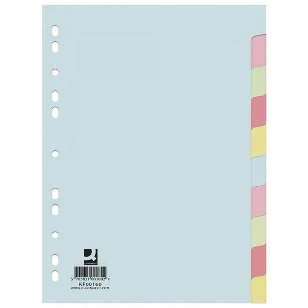 organizacja dokumentów 4 alibiuro.pl Przekładki Q CONNECT karton A4 223x297mm 10 kart mix kolorów 12