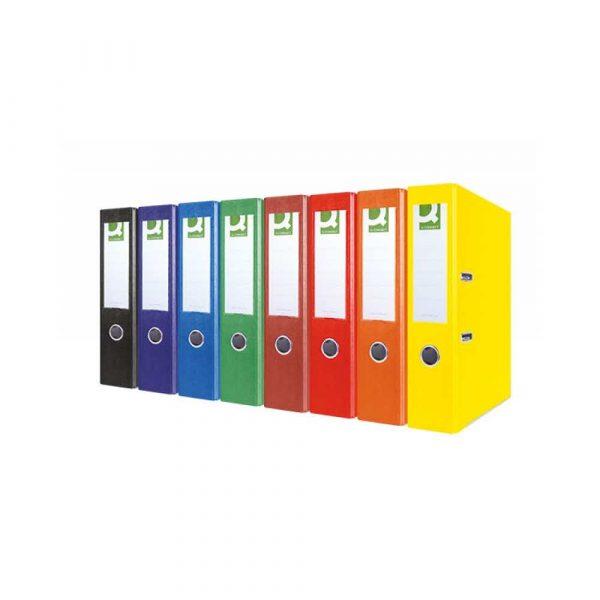 organizacja dokumentów 4 alibiuro.pl Segregator Q CONNECT Hero z szyną PP A4 75mm żółty 90