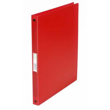 organizacja dokumentów 4 alibiuro.pl Segregator ringowy Q CONNECT PP A4 4R 16mm transparentny czerwony 34