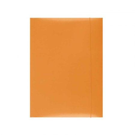 organizacja dokumentów 4 alibiuro.pl Teczka z gumką OFFICE PRODUCTS karton A4 300gsm 3 skrz. pomarańczowa 91