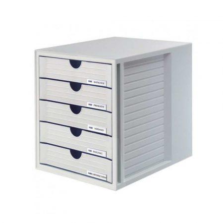 organizer na biurko 4 alibiuro.pl Zestaw 5 szufladek HAN System Box polistyren A4 szary 12