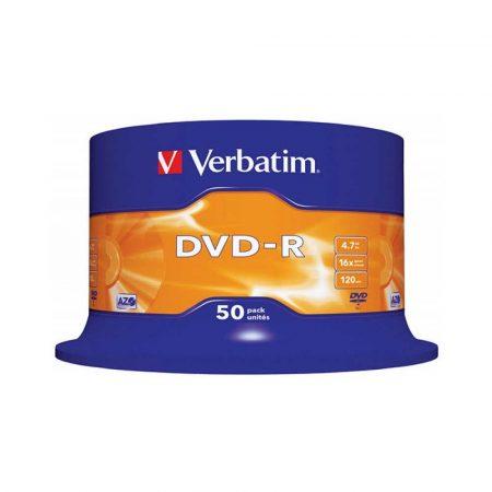 płyty dvd 4 alibiuro.pl Płyta DVD R VERBATIM AZO 4 7GB prędkość 16x cake 50szt. srebrny mat 10