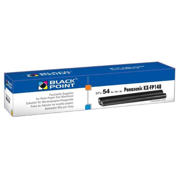 papier do faksów 3 alibiuro.pl BPPA54 TTR BP Panasonic KX FA54 BlackPoint BPPA54 BTPA0148B 90