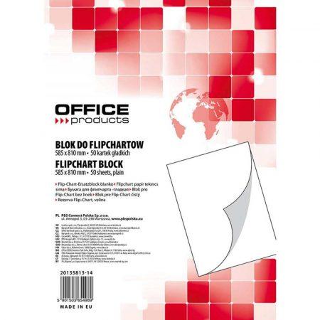 papier do flipchartów 4 alibiuro.pl Blok do flipchartów OFFICE PRODUCTS gładki 58 5x81cm 50 kart. biały 56